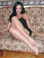 fishnet stockings blonde