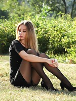 woman in stocking and sleep with wet pussy
