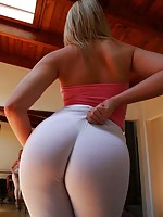 ladies putting on nylon stockings