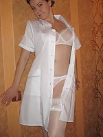men dressed in stockings