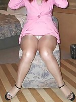 mature mom wearing stockings